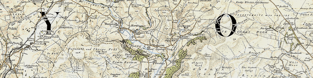 Old map of Appletreewick in 1903-1904