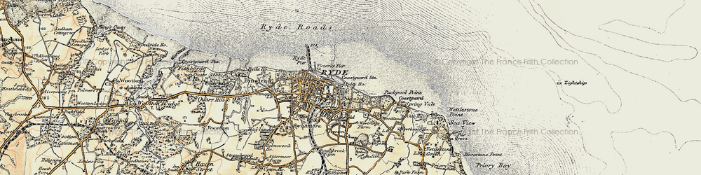Old map of Appley in 1899