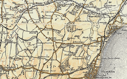 Old map of Apse Heath in 1899