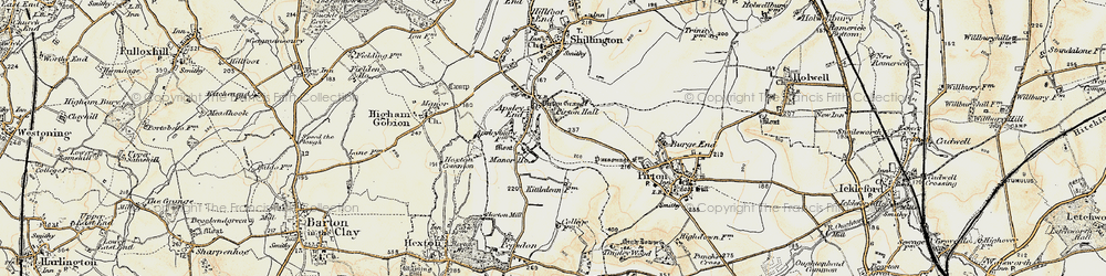 Old map of Apsley End in 1898-1899