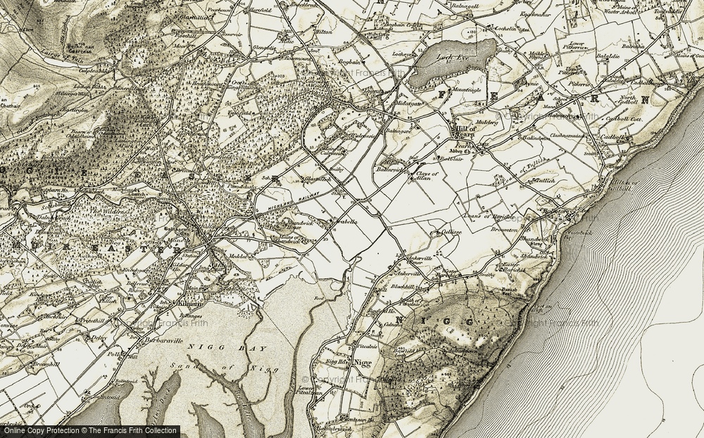 Old Map of Historic Map covering Balinroich in 1911-1912