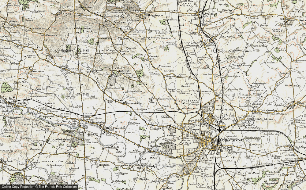 Old Map of Archdeacon Newton, 1903-1904 in 1903-1904