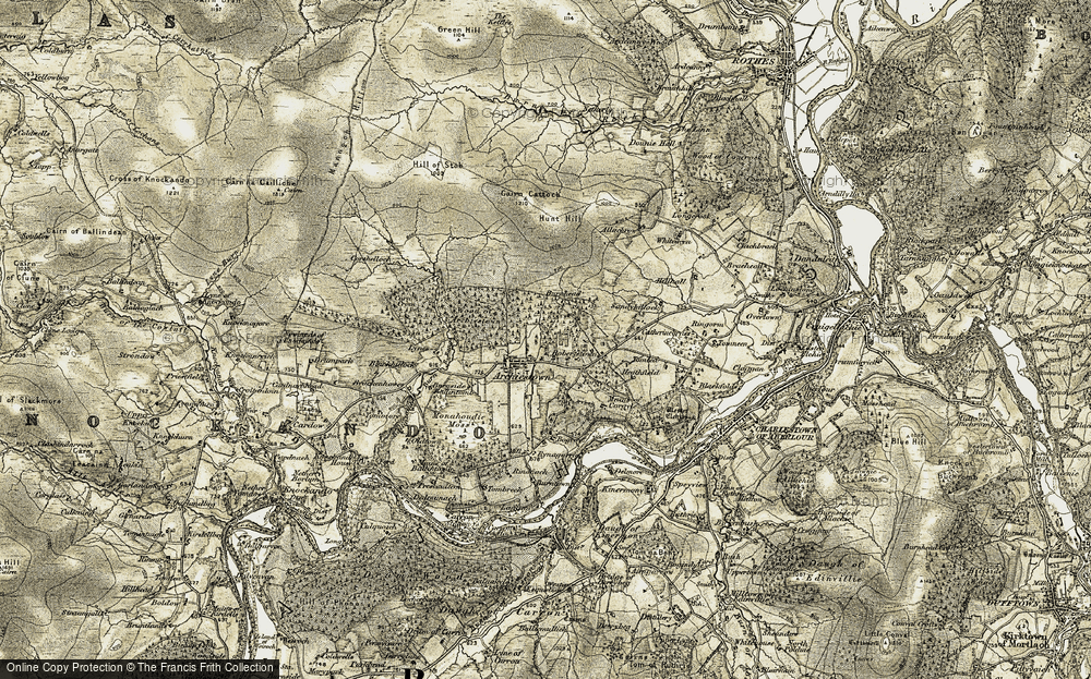 Old Map of Historic Map covering Whiteacen in 1908-1911