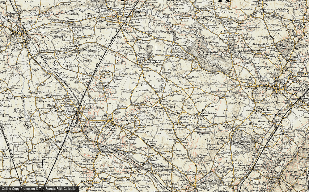 Old Map of Arclid, 1902-1903 in 1902-1903