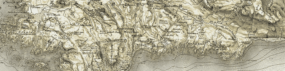 Old map of Ardalanish in 1906-1907