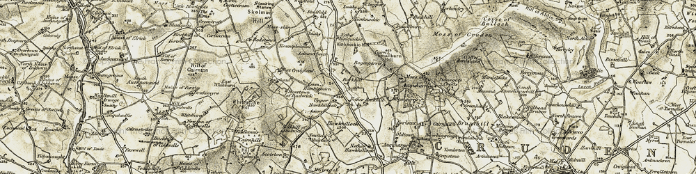 Old map of Ardallie in 1909-1910