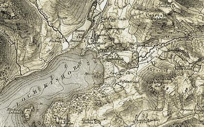 Old map of Ardarroch in 1908-1909