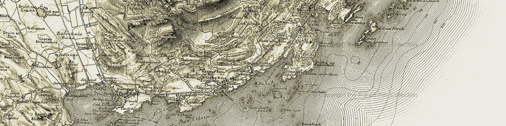 Old map of Àird Iomarsaigh in 1905-1906