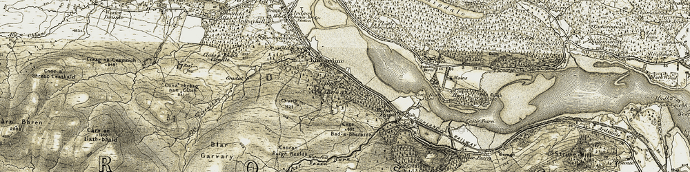 Old map of Wester Fearn in 1911-1912