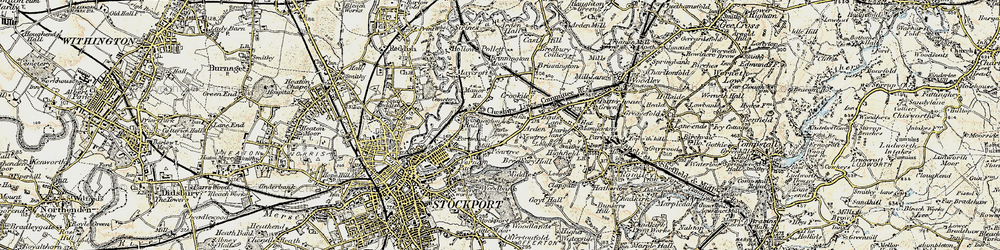 Old map of Arden Park in 1903