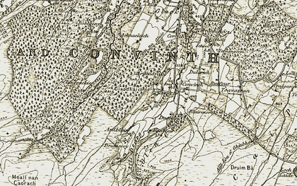 Old map of Achnacloich in 1908-1912