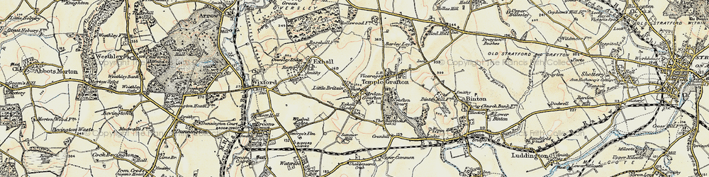 Old map of Ardens Grafton in 1899-1902