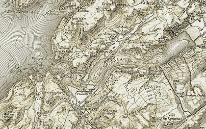 Old map of Cruach Lerags in 1906-1907