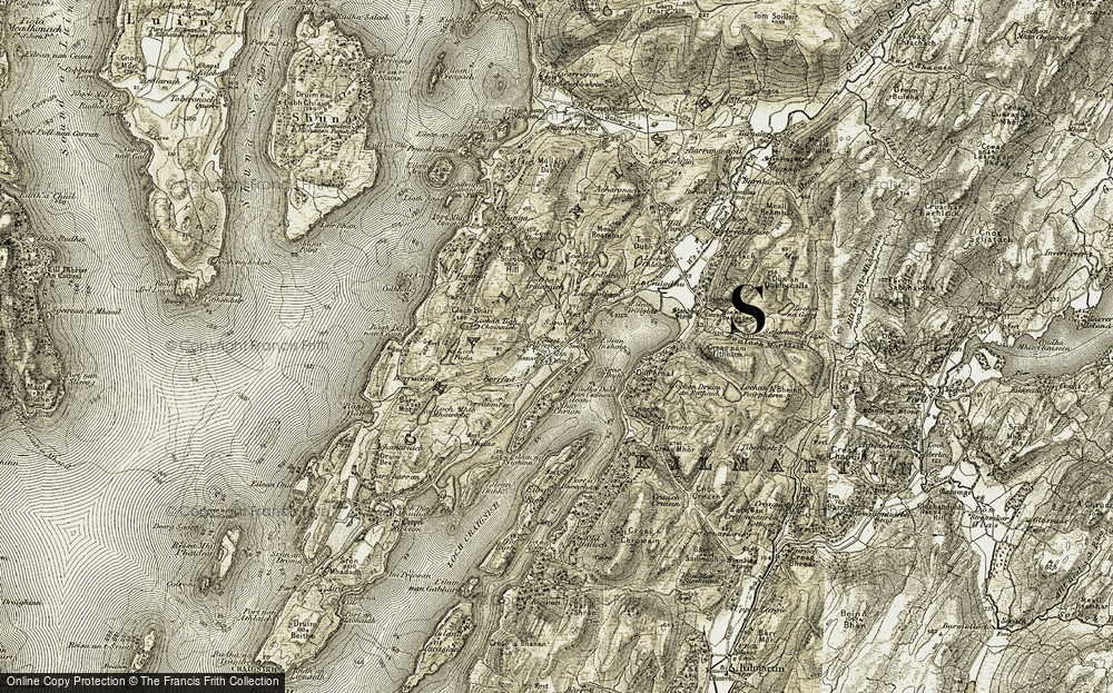 Old Map of Historic Map covering Lerigoligan in 1906-1907