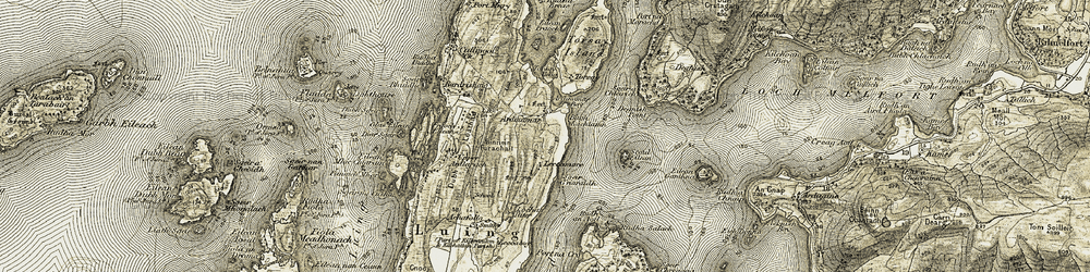 Old map of Achafolla in 1906-1907