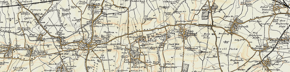 Old map of Ardington Ho in 1897-1899