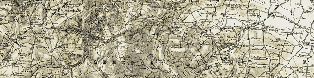Old map of Windyheads in 1909-1910