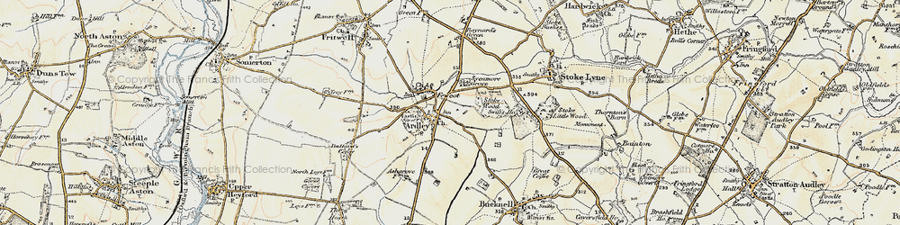 Old map of Ardley in 1898-1899