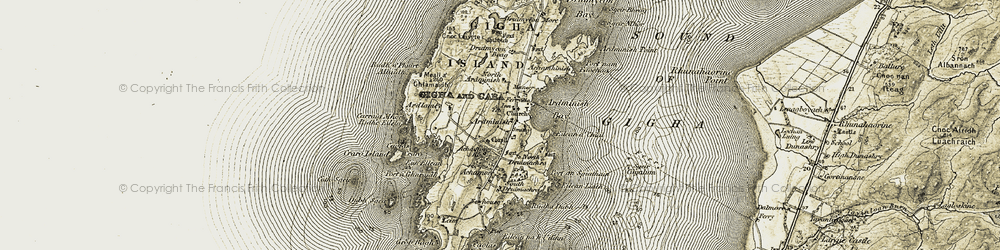 Old map of Achamore Ho in 1905-1906