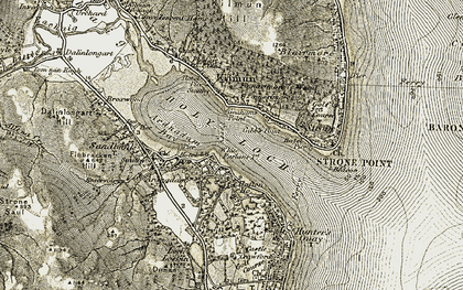 Old map of Lazaretto Point in 1905-1907