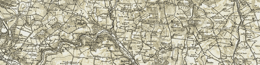 Old map of Wood of Wardford in 1909-1910