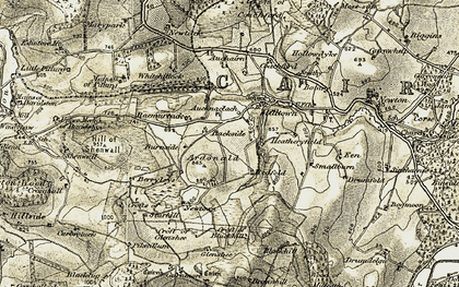 Old map of Coachford in 1908-1910