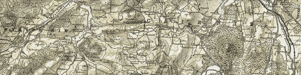 Old map of Alehousehillock in 1908-1910