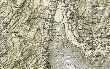 Old map of Ballibeg in 1905-1907