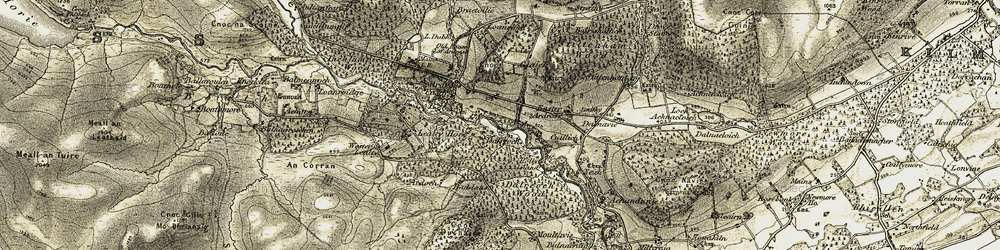 Old map of Ardoch in 1911-1912