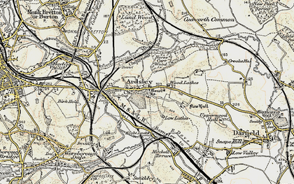 Old map of Ardsley in 1903