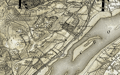 Old map of Yellow Wells in 1911-1912