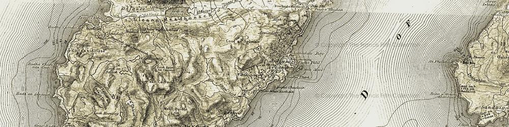 Old map of Ardvasar in 1906-1908
