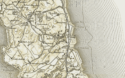 Old map of Balgowan in 1905