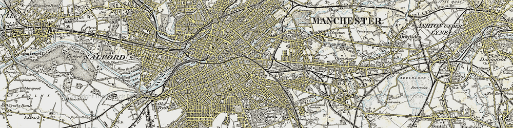 Old map of Ardwick in 1903