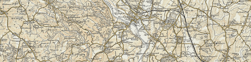 Old map of Areley Kings in 1901-1902