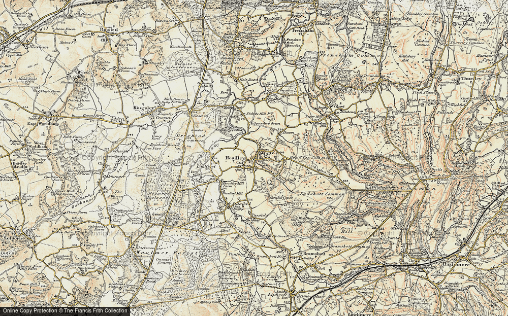Old Map of Historic Map covering Tignals in 1897-1909