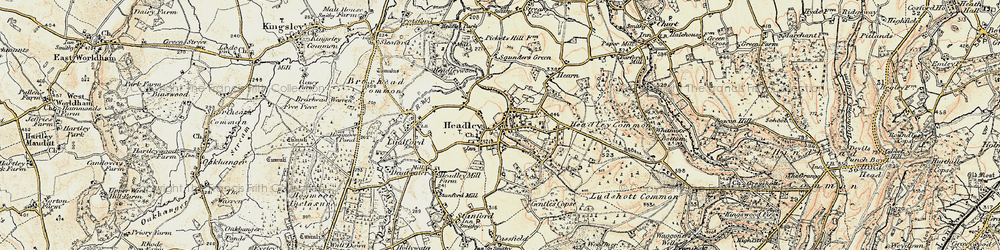 Old map of Arford in 1897-1909
