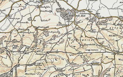 Old map of Argoed in 1902-1903