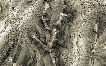 Old map of Allt Ruigh na Sròine in 1908