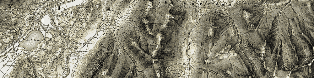 Old map of Allt Coire Follais in 1908