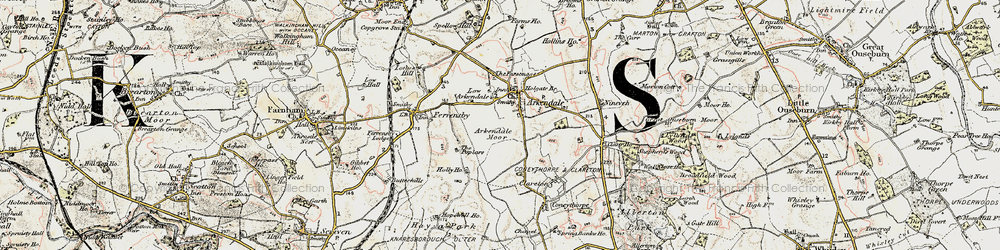 Old map of Arkendale in 1903-1904