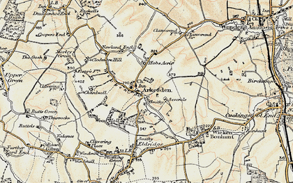 Old map of Arkesden in 1898-1901