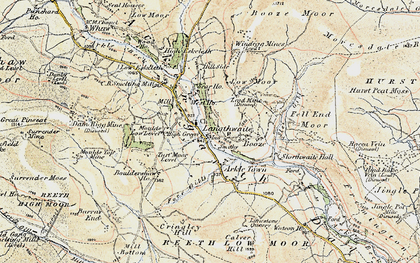 Old map of Arkle Town in 1903-1904