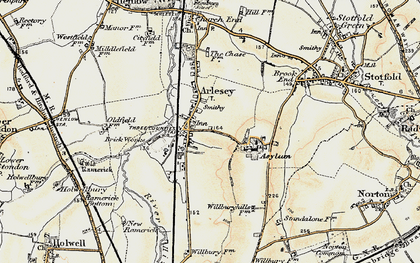 Old map of Arlesey in 1898-1901