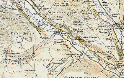 Old map of Arncliffe in 1903-1904