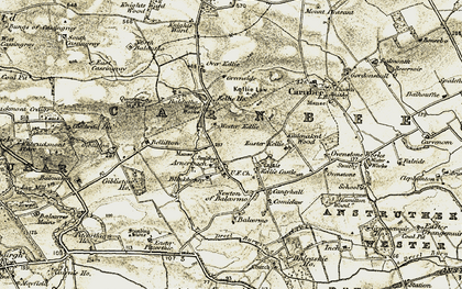 Old map of Wester Kellie in 1903-1908