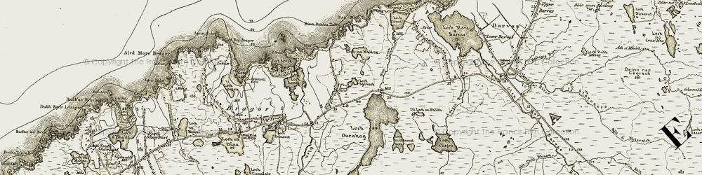 Old map of Abhainn Èirearaigh in 1911