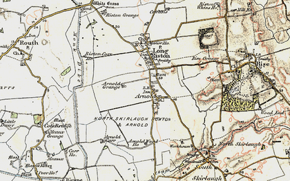 Old map of Arnold in 1903-1908