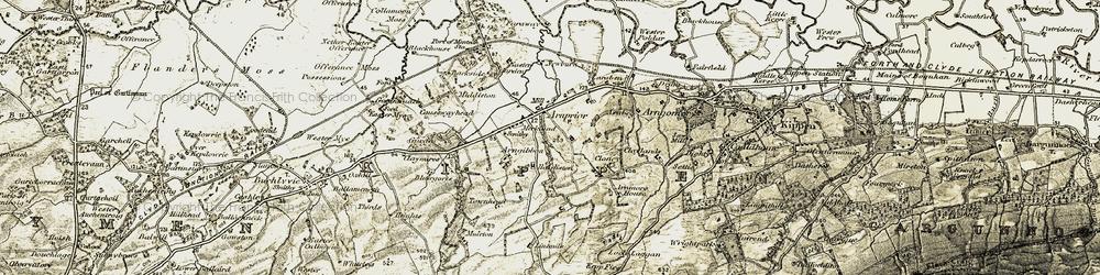 Old map of Laraben in 1904-1907