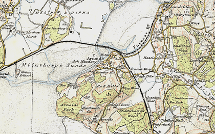 Old map of Arnside in 1903-1904